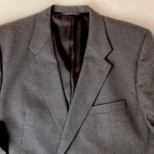 Burberrys' Wool 2-button Blazer Sport/Suit Jacket